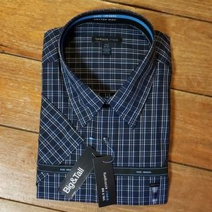 Van Heusen Big & Tall Plaid Short Sleeve Button Do
